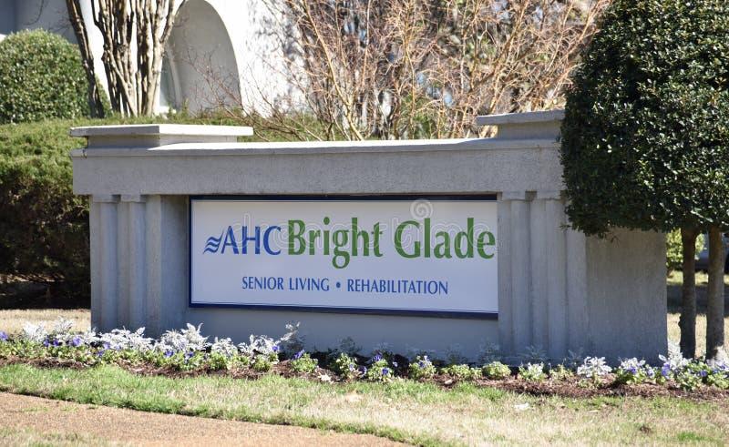 AHC Jaskrawej halizny Starszy utrzymanie i rehabilitacja, Memphis, TN obrazy stock