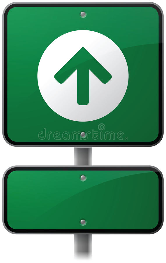 Ahead Arrow Road Sign vector illustration