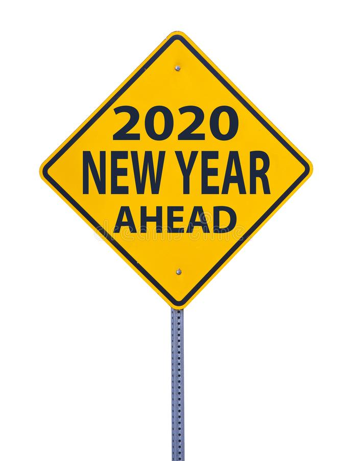 2020 Ahead stock photo