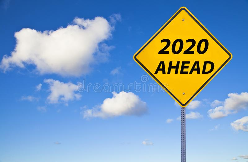 2020 Ahead Sign stock photography