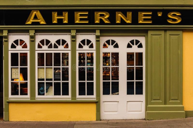 Aherne`s restaurant. Youghal. Ireland. Aherne`s restaurant. Youghal. county Cork. Ireland stock photo