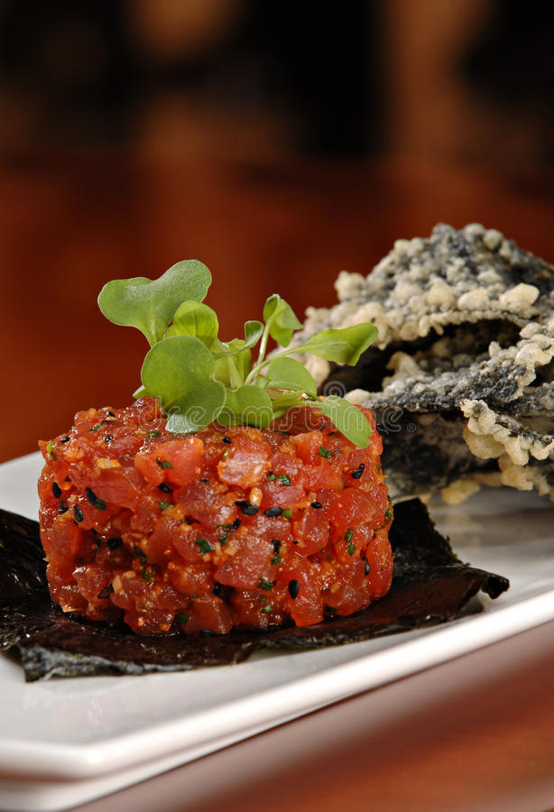 Ahi Tuna Appetizer stock images