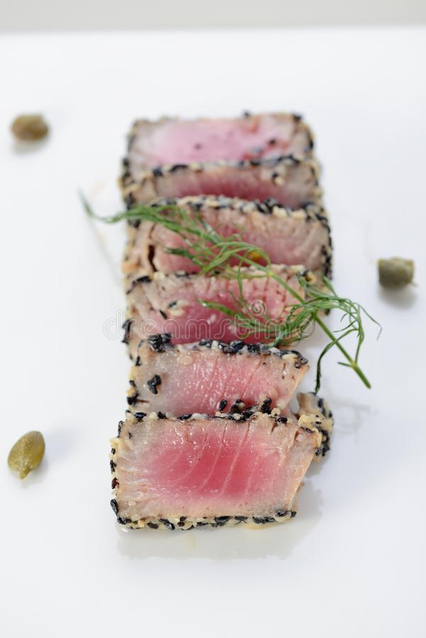 Ahi Tuna Seared stock image