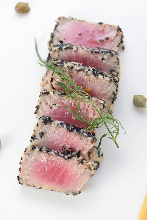 Ahi Tuna Seared royalty free stock photography