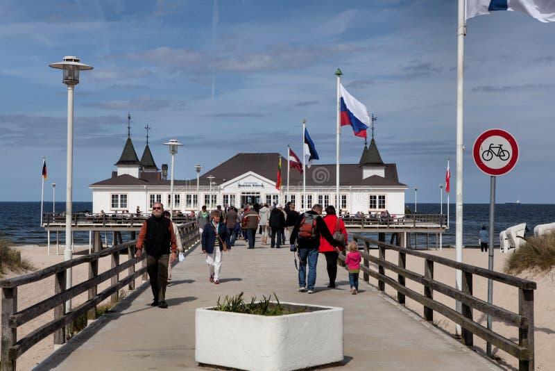 Ahlbeck bij Oostzee op Usedom-Eiland, Mecklenburg-Vorpommern, Duitsland royalty-vrije stock foto