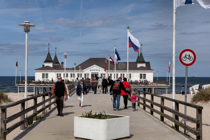 Ahlbeck in Ostsee auf Usedom-Insel, Mecklenburg-Vorpommern, Deutschland lizenzfreies stockfoto