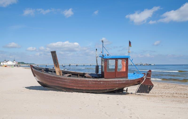 Ahlbeck, Usedom wyspa, morze bałtyckie, Niemcy obrazy royalty free