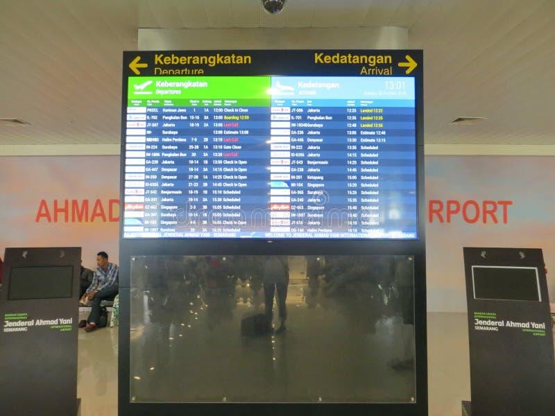 Ahmad Yani-luchthaven in Semarang royalty-vrije stock foto's