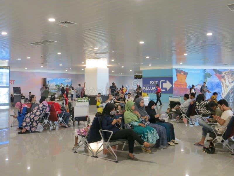 Ahmad Yani-luchthaven in Semarang royalty-vrije stock foto