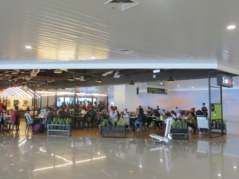 Ahmad Yani-luchthaven in Semarang stock foto