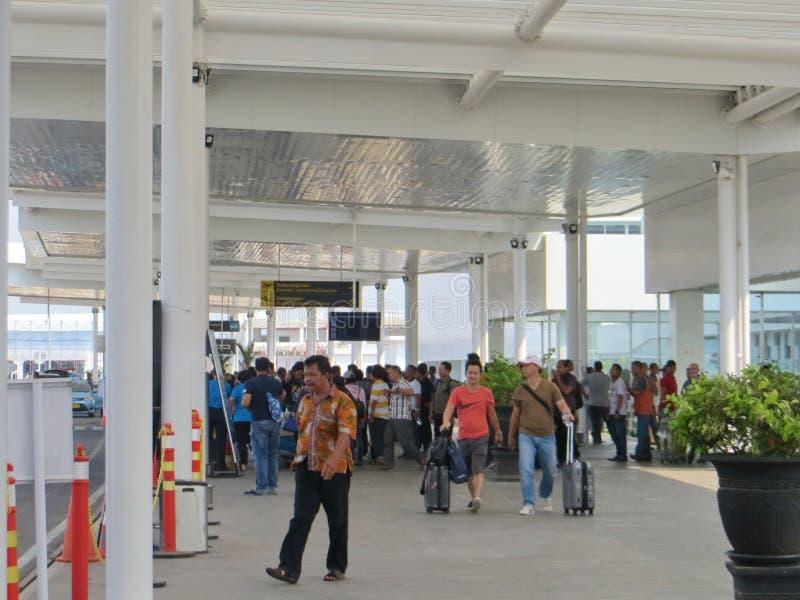 Ahmad Yani-luchthaven in Semarang stock afbeelding