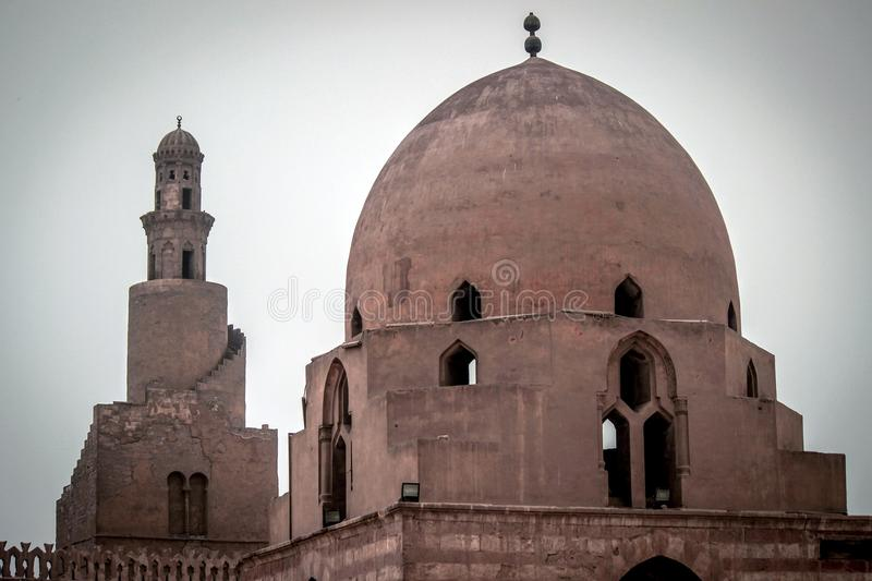 Ahmed Ibn Tulun Mosque, Cairo, Egypt. Ahmed Ibn Tulun Mosque is arguably the oldest mosque in Cairo surviving in its original form, and is the largest mosque in stock photo