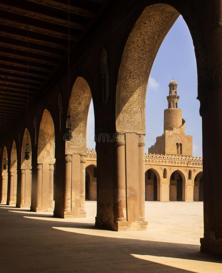 Ahmed ibn tulun mosque. Minarets of Ahmed ibn tulun mosque one of the oldest building in cairo royalty free stock image