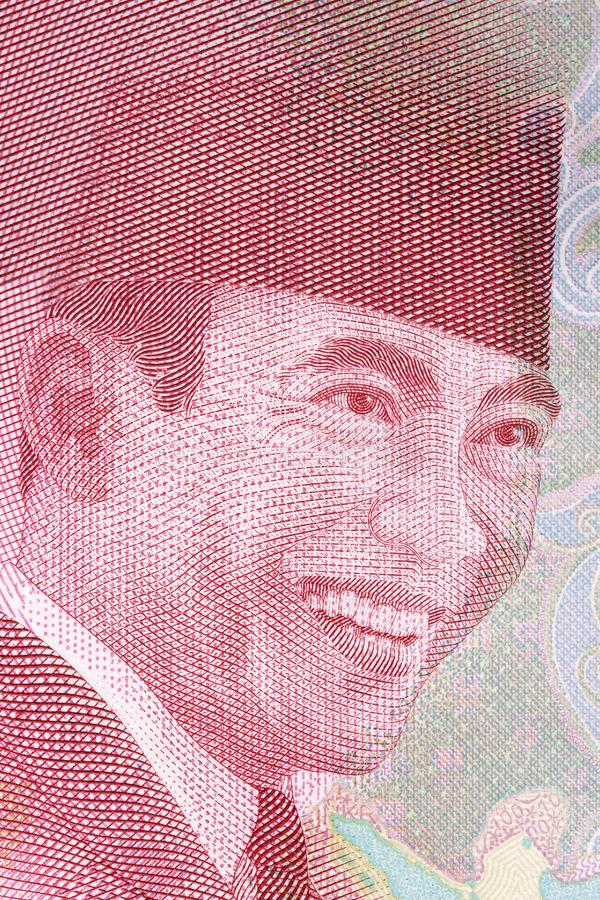 Ahmed Soekarno-Porträt stockbild