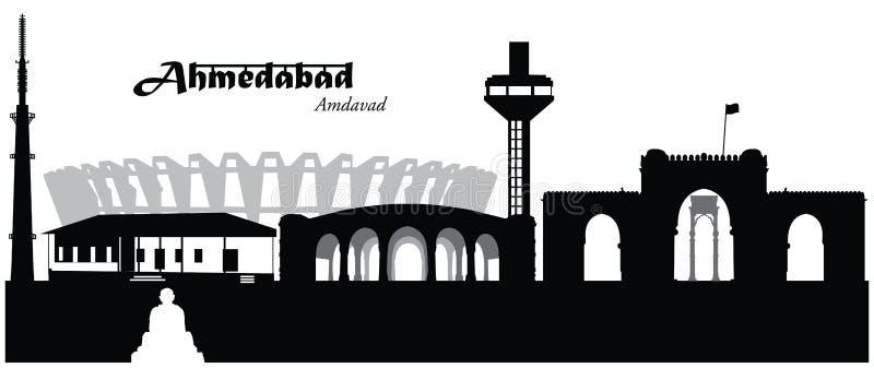 Ahmedabad, India vector illustratie