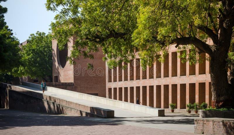 Ahmedabad Indien - December 26, 2014: Asiatiska högskolestudenter på det indiska institutet av ledning Ahmedabad royaltyfria foton