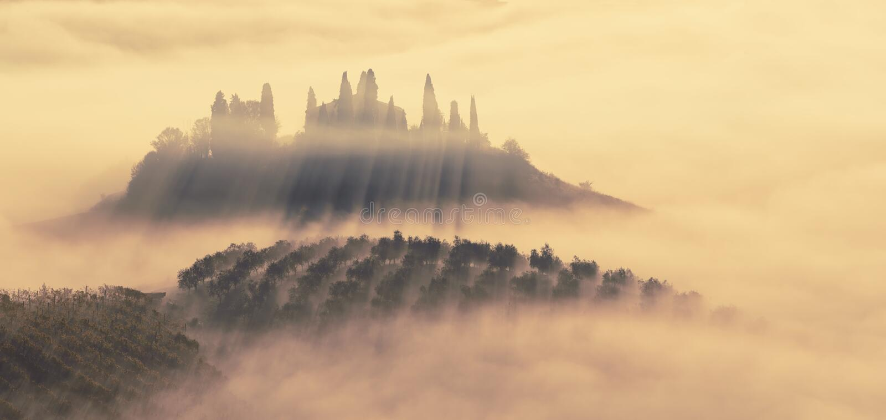 Ahogado en la niebla foto de archivo