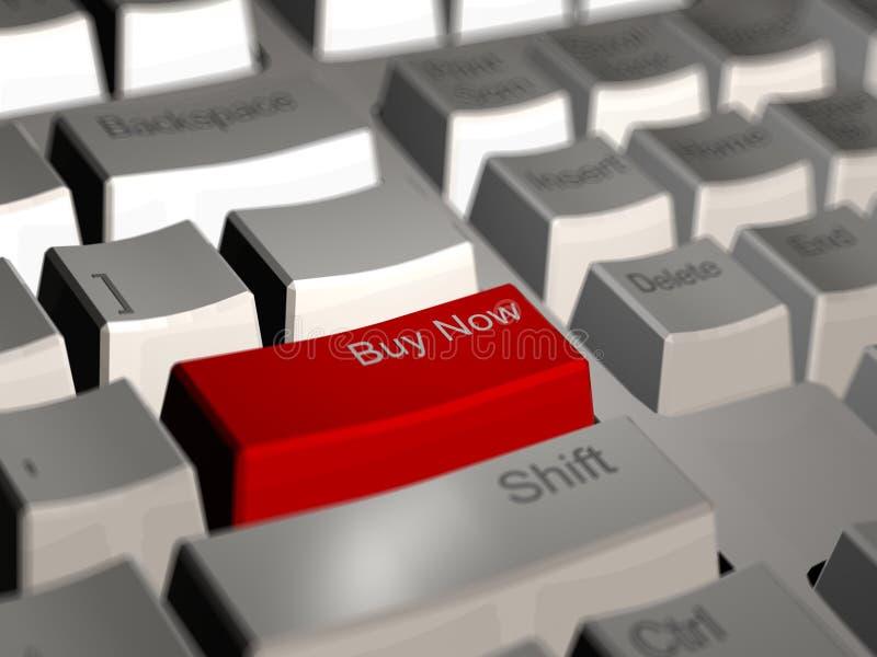Ahora compre el teclado de ordenador imagen de archivo libre de regalías