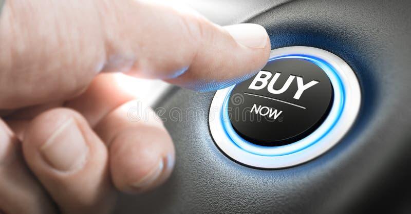 Ahora compre un nuevo coche fotos de archivo libres de regalías