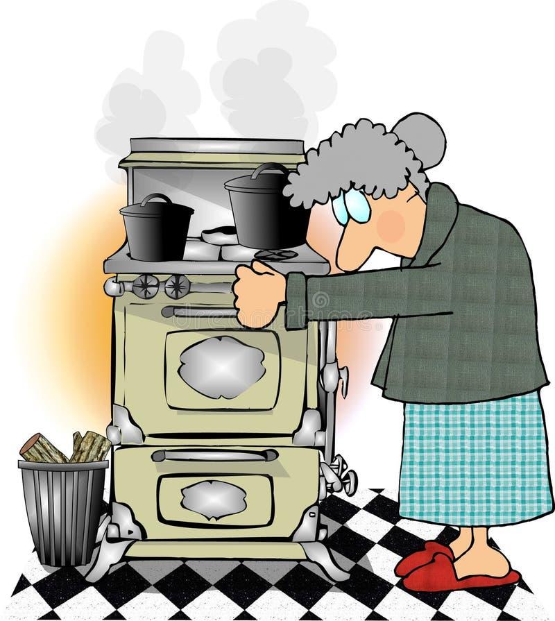 Ahora estamos cocinando con el gas ilustración del vector
