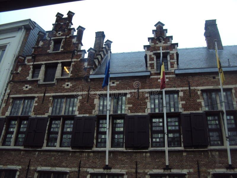 Ahora estamos en Bélgica Ciudad Adverpen foto de archivo libre de regalías
