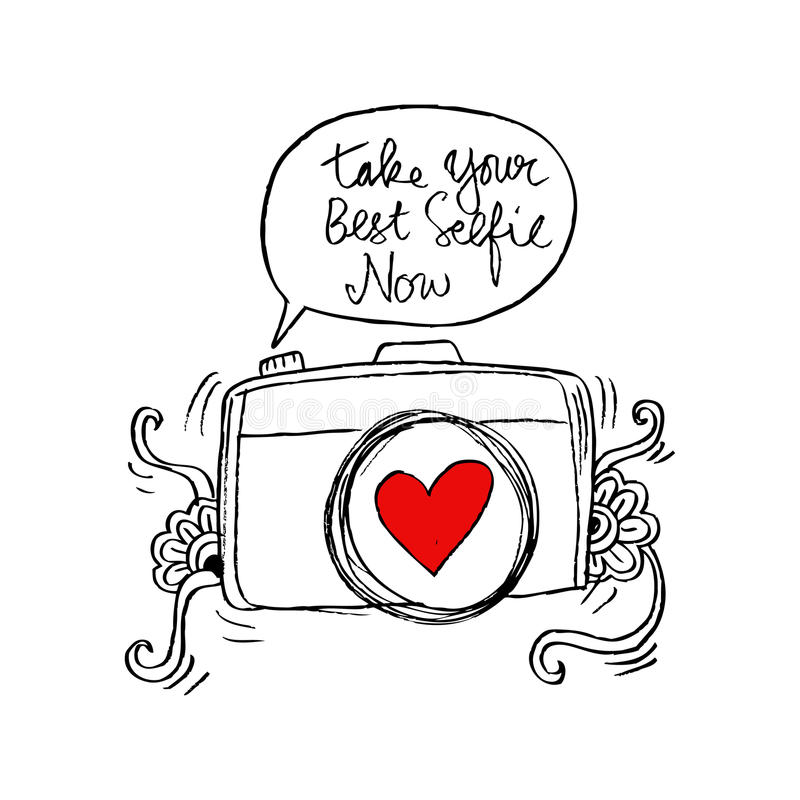 Ahora tome su mejor selfie libre illustration