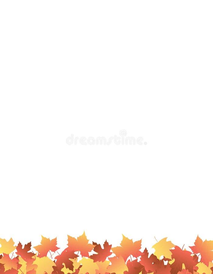 Ahornholz-Seitenende-/Herbstblätter stock abbildung