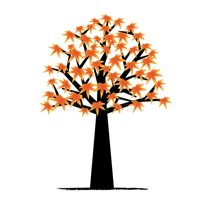 Ahornholzbaum stock abbildung