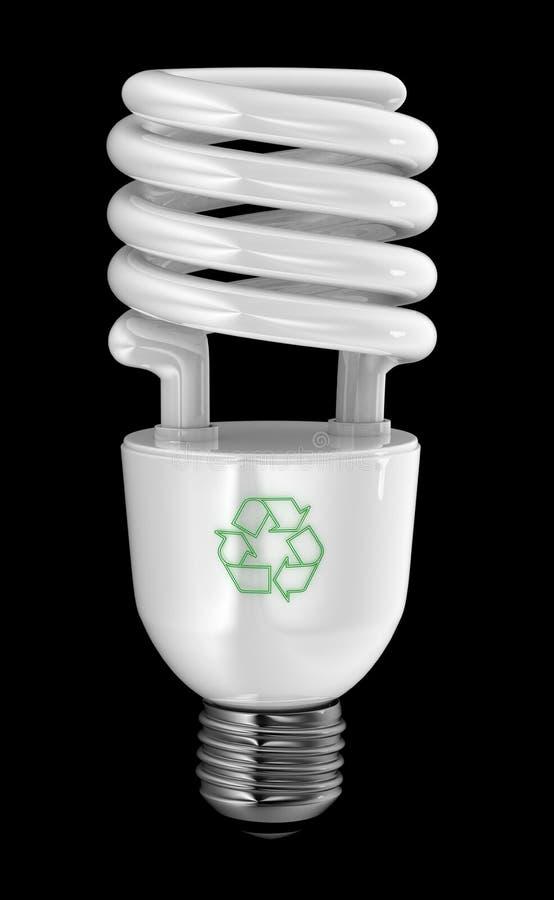 Ahorrador de energía stock de ilustración