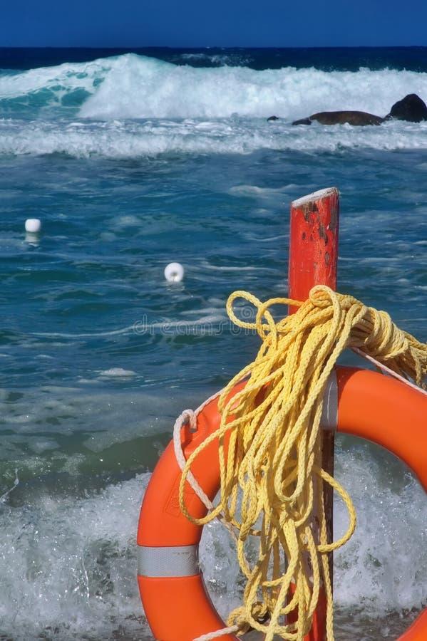 Ahorrador de vida de la playa imágenes de archivo libres de regalías