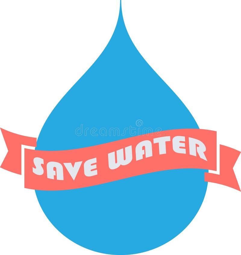 Ahorre el agua potable potable del agua potable libre illustration