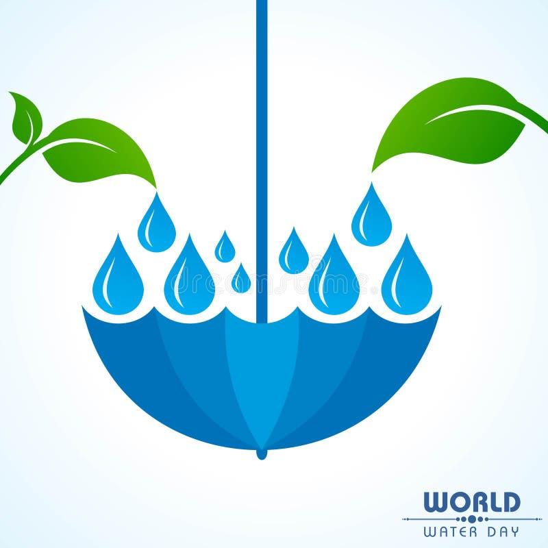 Ahorre el concepto de la naturaleza - día del agua del mundo libre illustration