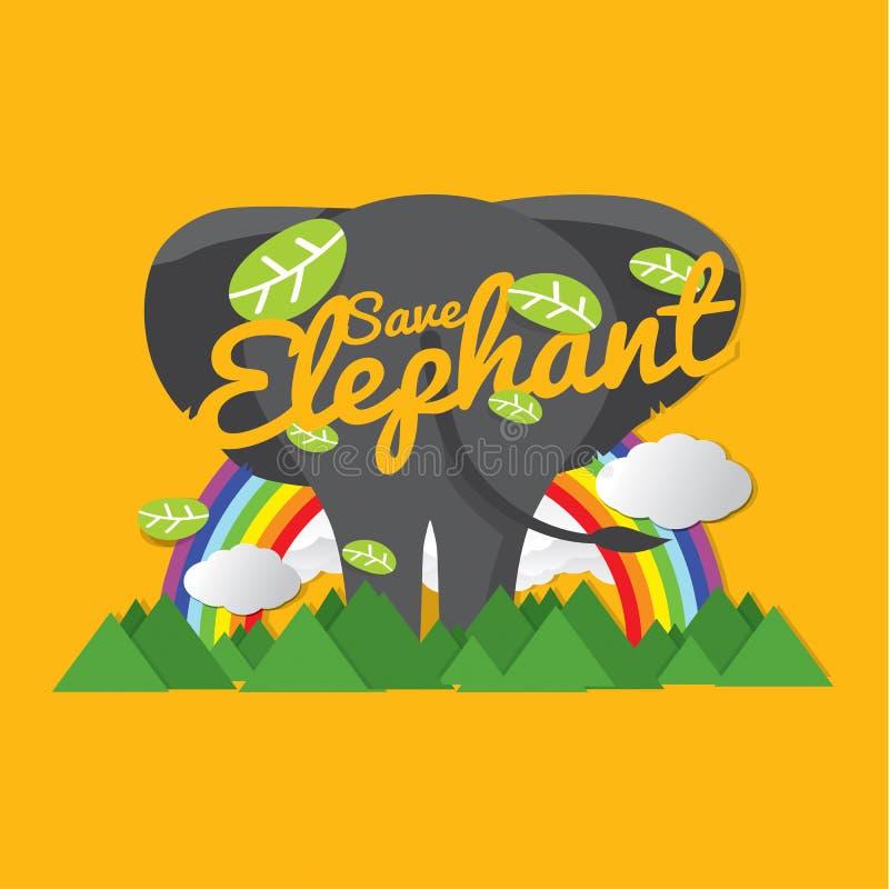 Ahorre el concepto del conservador del elefante libre illustration
