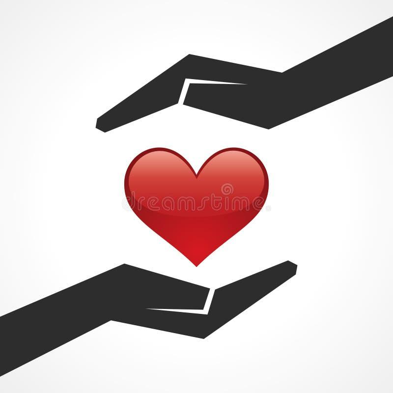 Ahorre el concepto del corazón libre illustration