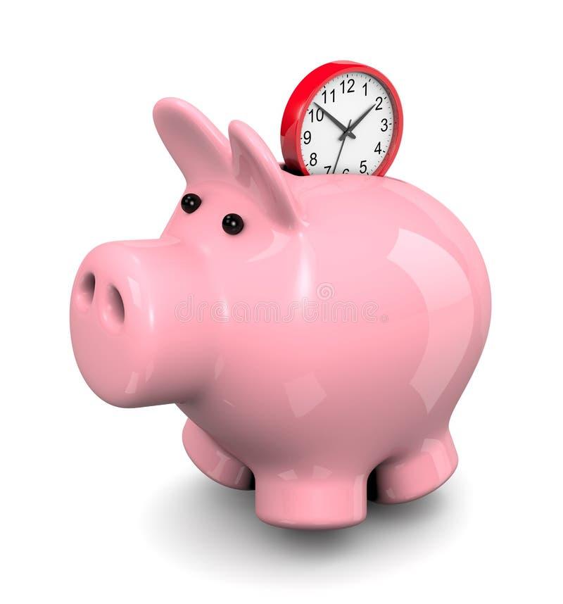 Ahorre el concepto del tiempo stock de ilustración