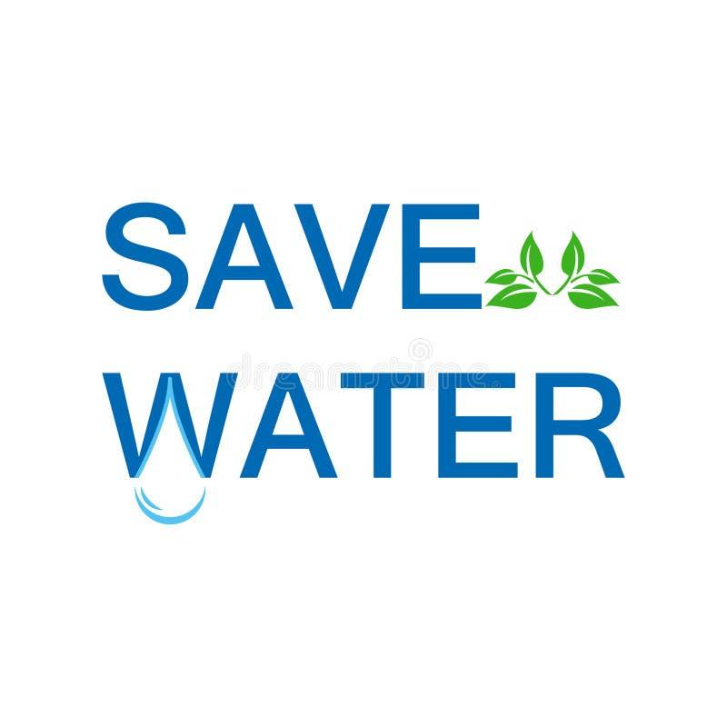 Ahorre el eco del agua stock de ilustración