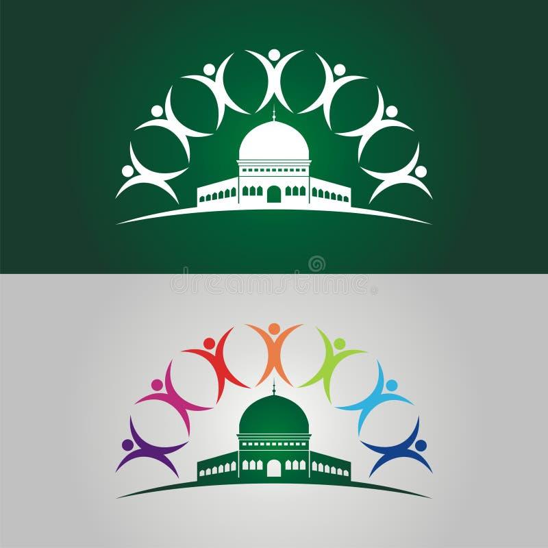 Ahorre el ejemplo de Jerusalén con el logotipo humano stock de ilustración