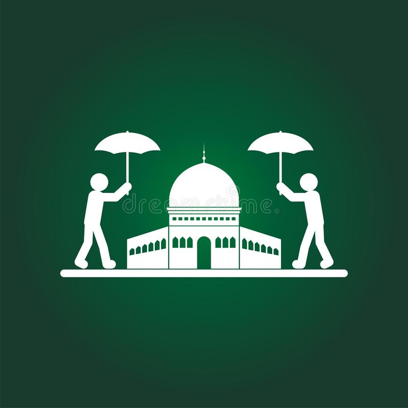 Ahorre el ejemplo de Jerusalén con el logotipo humano ilustración del vector