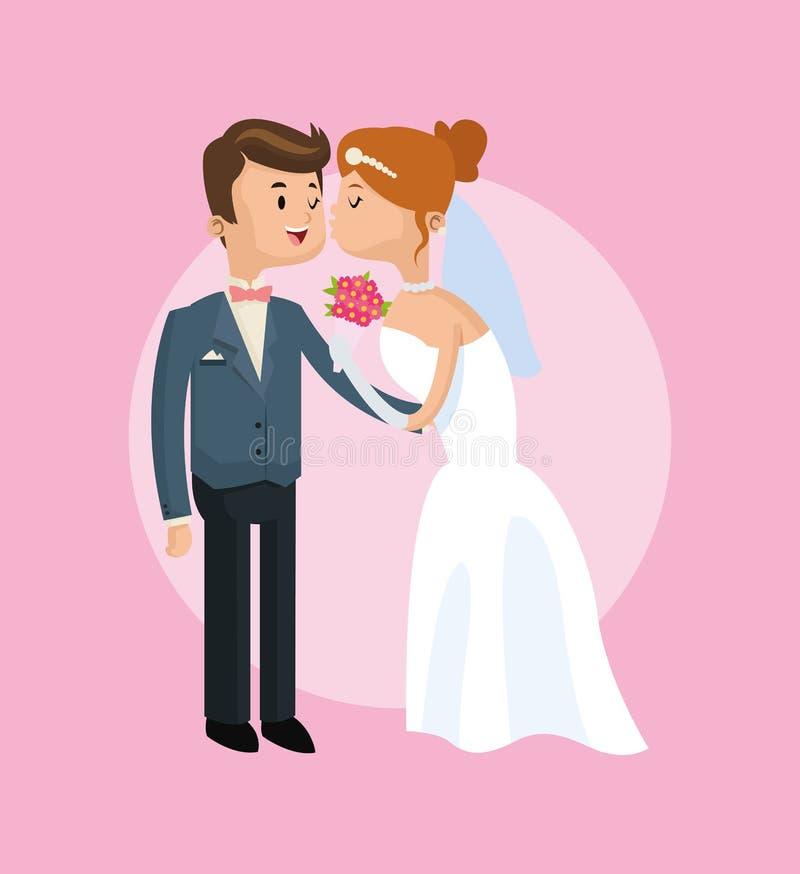 Ahorre el icono de la boda de la fecha Gráfico de vector libre illustration
