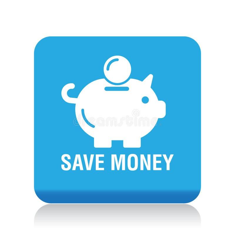 Ahorre el icono de la hucha del dinero libre illustration