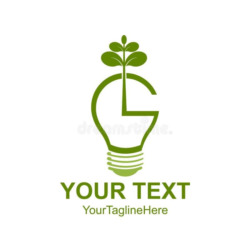 Ahorre el icono del concepto del eco de la energía para el prote verde del ambiente de la ecología libre illustration