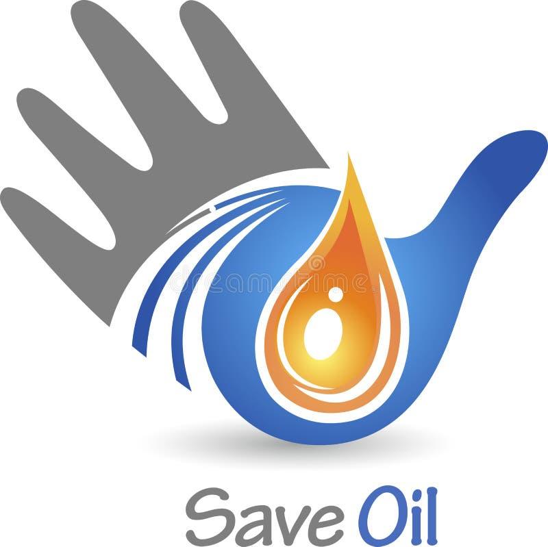 Ahorre el logotipo del aceite ilustración del vector