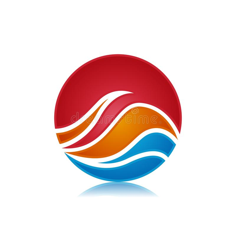 Ahorre el símbolo abstracto del negocio del avance de la transferencia directa - ejemplo del concepto del logotipo Insignia abstr ilustración del vector