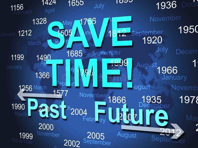 Ahorre el tiempo representa de alta velocidad y enérgico stock de ilustración