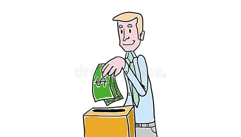 Ahorre en casa ilustración del vector