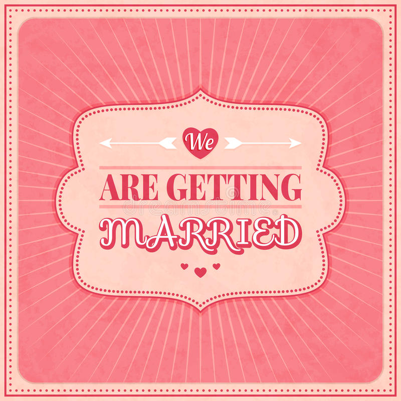 Ahorre la fecha, casandose la tarjeta de la invitación stock de ilustración