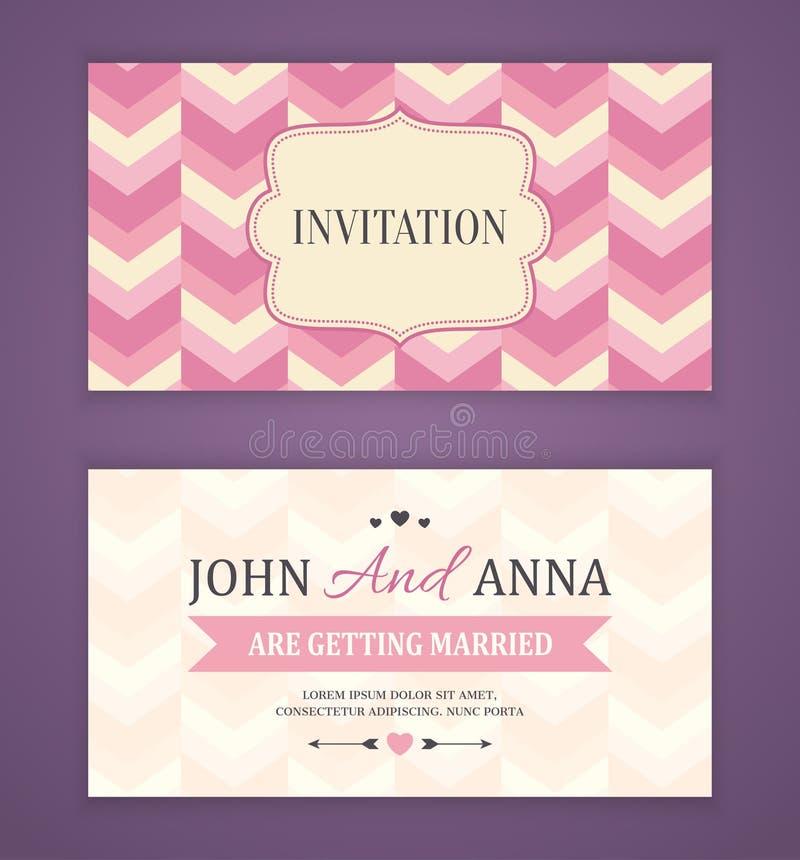 Ahorre la fecha, casandose la tarjeta de la invitación libre illustration