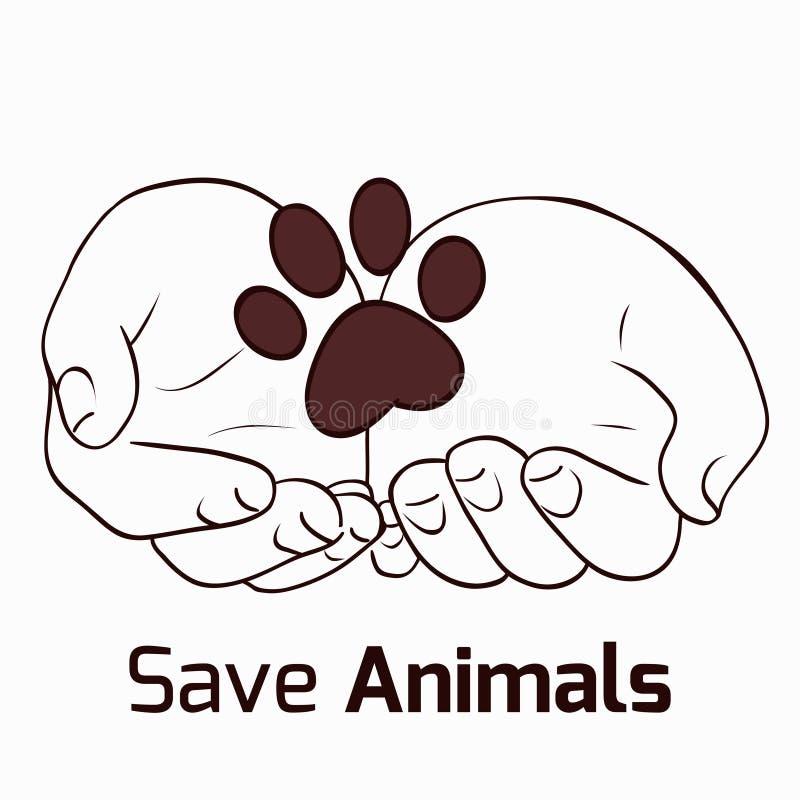 Ahorre los animales libre illustration