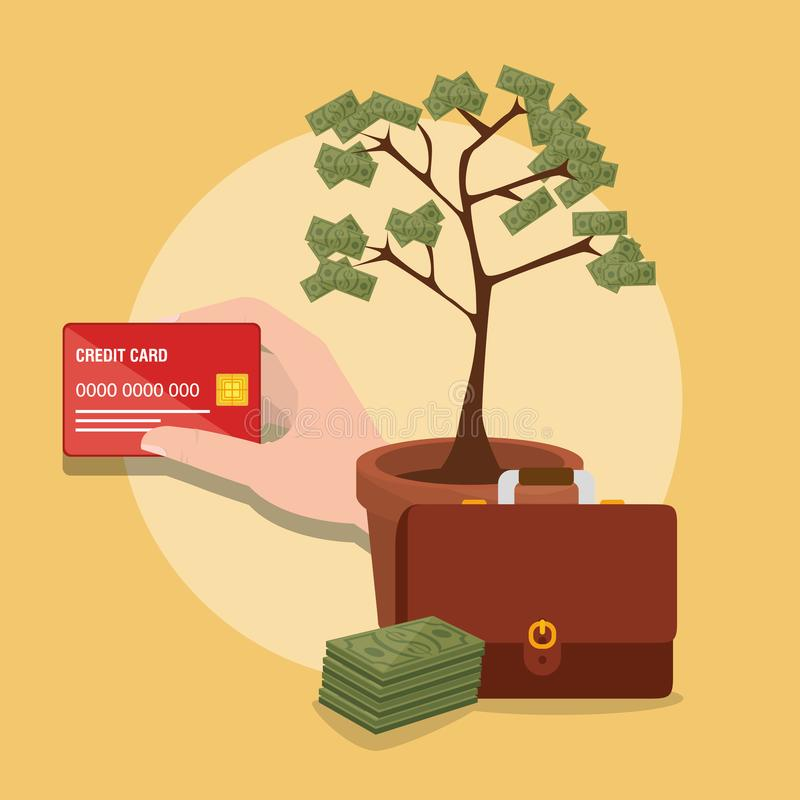 Ahorre los iconos determinados del dinero libre illustration