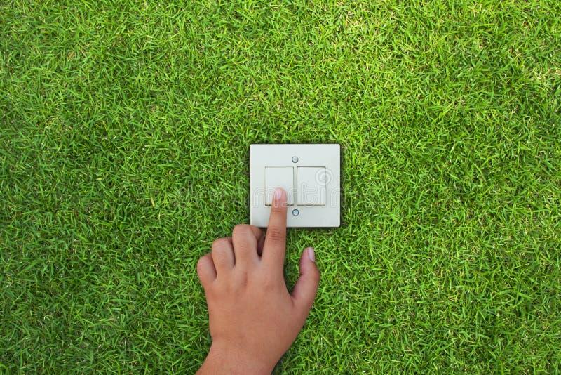 Ahorro de la energía con concepto del cambio del verde y de clima fotos de archivo libres de regalías